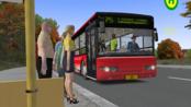 Omsi2巴士模拟2-港湾市75路公交路线(宇宙巴士郑州涂装)【驾驶员幸福】