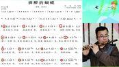 零基础教学《酒醉的蝴蝶》动态简谱和笛子示范,几分钟就能学会