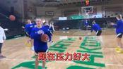 超远距离投篮五连中,南达科他大学女篮姑娘兴奋地高声尖叫