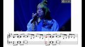Billie Eilish & Alicia Keys - Ocean Eyes 单钢琴伴奏扒谱