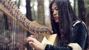 竖琴弹唱《勇敢传说》插曲noble maiden fair。就是王后给红发公主唱的那首摇篮曲。我媳妇儿竖琴弹唱,我哨笛+曼陀铃