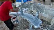 公园里的水泥座椅,原来是这样制作出来的,成本确实不高还很耐用!