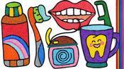制作牙刷水杯牙膏玩具图像