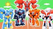 核晶少年变形合体机器人豪华套装惊喜玩具