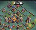 部落冲突:整个部落就剩小夕在线了,偷偷的去攻打别人还打输了