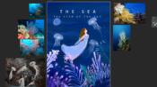 {商业插画}海洋公主(2),手绘板+ps, 从广美毕业的小姐姐告诉你如何去成为插画师,首先要掌握原创能力和素材,才能更好的走下去呦~