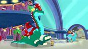恐龙救援队:霸王龙踝关节扭伤,一动起来就痛,不能参加救援了