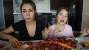【Ivana Alawi】和妹妹的双人海鲜餐,双倍的快乐(^^●)!