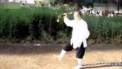 民间传统功夫武术七段高手表演杨氏太极单刀,这功夫真打的稳健!