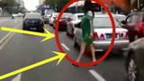 短裙美女怀着孕还横穿马路,想救她都来不及,网友:真惨啊