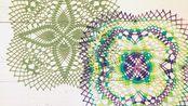 「紫荷」蕾丝装饰垫钩编教程-工喜手工实验室
