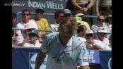 Extended Highlights Stefan Edberg v Andre Agassi Indian Wells Final 1990