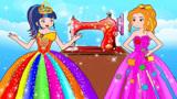 女孩用魔法缝纫机修复裙子,要求男孩支付高额账单,不料男孩没钱