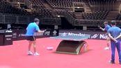 张继科和梁靖崑乒乓球训练,打得出神入化,网友:值得学习!