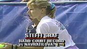 【格拉芙一年狂揽三个大满贯!】Steffi Graf vs Martina Navratilova ● US Open 1989 Final (60FPS)