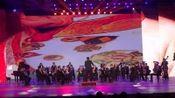 (12)唱时代华章圆青春梦想 通辽市老年人体育协会庆祝改革开放四十周年新年晚会器乐合奏《古老出征》《拉德斯基进行曲》指挥;郭刚利。摄影:彭福森
