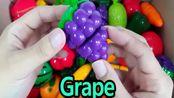 益智早教视频,学习蔬菜和水果的名称,西红柿、西瓜、葡萄