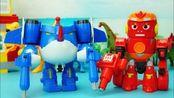 小鹿玩具萌宝乐园:炫酷虫子变形玩具,战车和飞机出动!