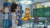 加菲猫:丽萨给加菲猫检查身体,告诉乔恩二十四小时都不能吃东西