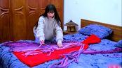 李子柒的外套都是自己做的,看我织一件,御寒的羊绒披风