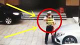 交警堵在车前,豪车女司机一脚油门,下秒摊上大事了!