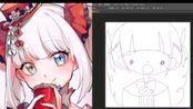 【神楽めあ】神回!咩加索的奇妙画画!(评论有时间点) mea tc画画回 2019.11.25