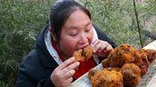 胖妹发现美食商机,炸鸡腿别在快餐店买,自己做连吃4个还不过瘾