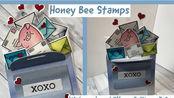 【卡片】超可爱爱心邮箱卡片制作教程|Honey Bee Stamps | Piggy in a Mailbox Card