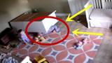 母亲临时有事外出,幼童家中肆意玩耍,监控竟拍到揪心一幕!