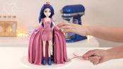 一刀下去才明白,漂亮的迪士尼公主原来是翻糖蛋糕!创意100分