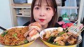 中国吃播:大学食堂新品冷锅串串,奥尔良鸡肉三明治