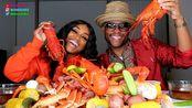 【吃蟹阿姨】美国下一个顶级模式的法式蟑螂煮海鲜(2020年1月29日21时20分)