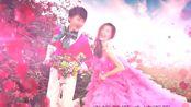ae素材 pr素材 693甜蜜浪漫的粉色花瓣之恋婚礼婚庆预告片片头ae模板 视频制作 视频相册