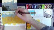 纳森·霍克斯水彩水粉画风景写生 全彩色调色板