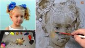 Unbelievably beautiful painting of a child in oils. Tutorial with Sergey Gusev.