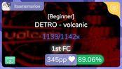 [8.36] itsamemarioo | DETRO - volcanic [Beginner] +TD 89.06% {#1 Loved 1st FC}