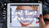 [ipad pro 绘画 ]/Real Time Procreate Illustration + a chat about using references/