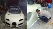 安徽阜阳男子,为圆梦亲自动手制作布拉迪跑车,曾在工地做焊工