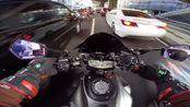 【雅马哈MT07】超清1080P 60FPS 纵享丝滑云骑行体验 日本骑行日志 #9 SUZUKI GSX-R1000   YAMAHA MT-07