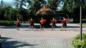 北京通州森林公园杨杨广场舞;一朵花;两朵花;三朵花