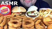 【russian eating】汉堡大王汉堡卷,汉堡烧烤,洋葱圈,奶酪鸡肉和薯条(吃的声音)(2019年11月30日21时1分)