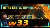 w33 - Huskar MID | ULTRA KILL vs Topson (Clockwerk) | Dota 2 Pro MMR Gameplay #5