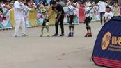 河南省第九届轮滑锦标赛幼儿乙组一百米 南阳天予轮滑付彦博 李昱昊小组第一第二