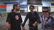 Respect!蒙眼滑手与视力障碍滑手的对决berrics 中的一场skate(David Reyes VS Dan Mancina)