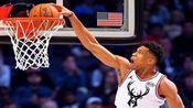 NBA站着扣篮的球员:踮脚挂框字母哥,历史第一人波尔,大姚呢?