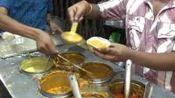 印度大城市上班族仅40卢比的快餐, 8道菜任选, 生意爆棚
