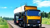 欧洲卡车模拟2-玛兹6422经典车头Mod试玩 1.33波罗的海彼岸地图