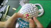 ◆折纸大全◆DIY手工折3D玩具 怎样用胶枪安眼睛和四肢