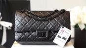 香奈儿Chanel So Black全黑中号2.55口盖包