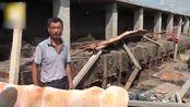 台风过境汽车被刮飞,村庄成废墟